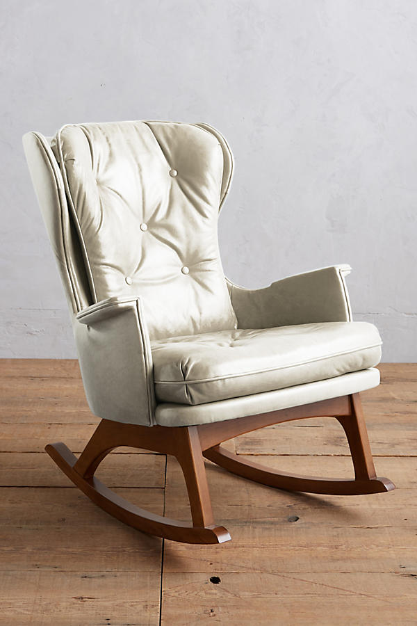 Slide View 1 Premium Leather Finn Rocking Chair