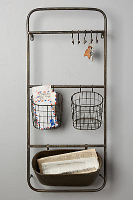 Slide View: 1: Iron Entryway Shelf Set