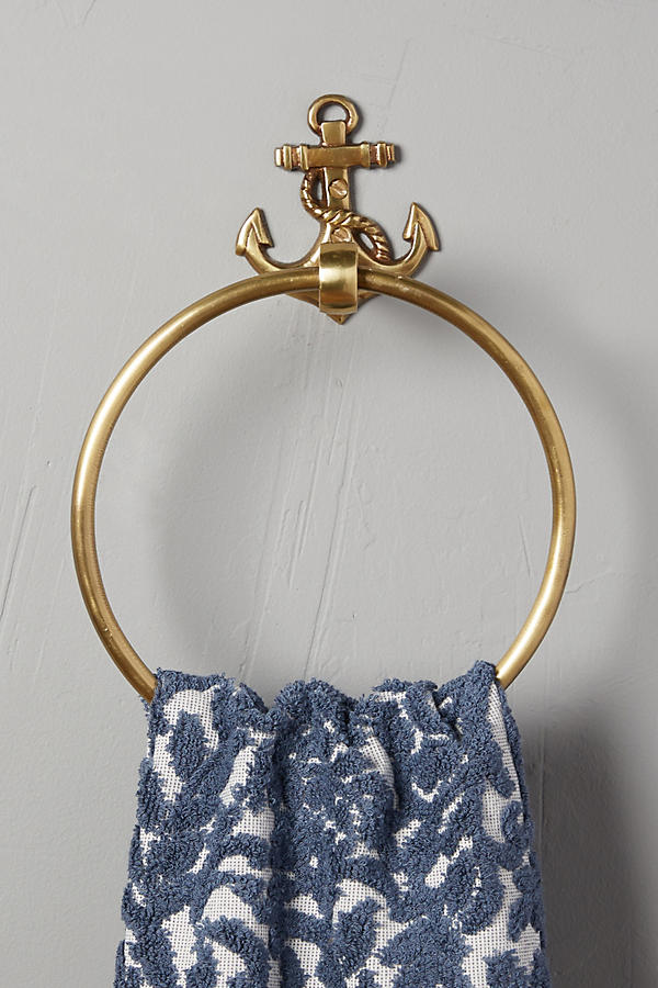 Brass Anchor Towel Ring
