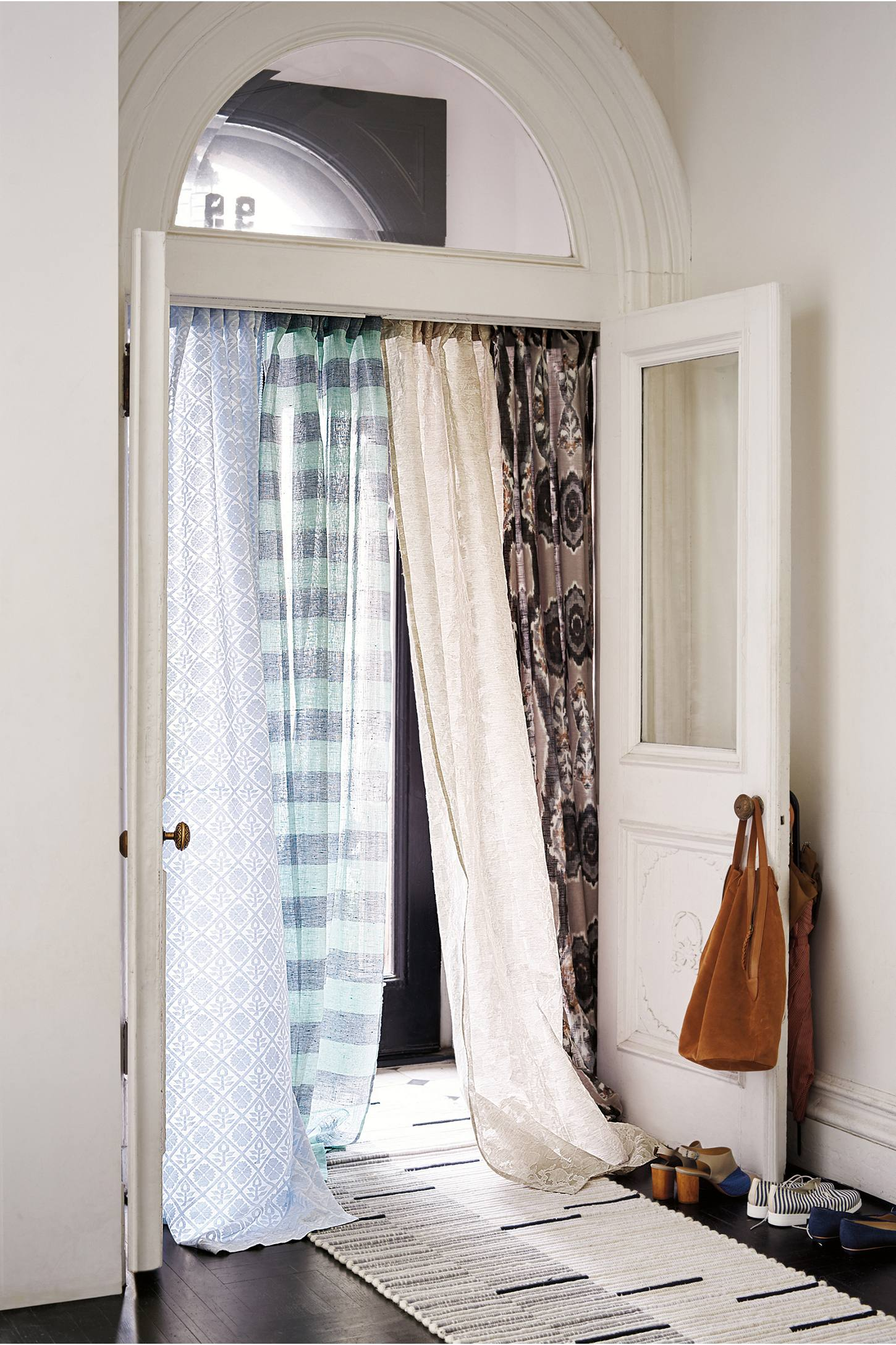 Slide View: 3: Stretched Ikat Curtain