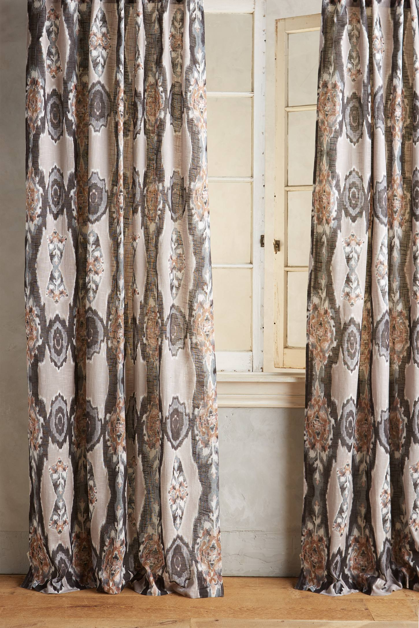 Slide View: 1: Stretched Ikat Curtain
