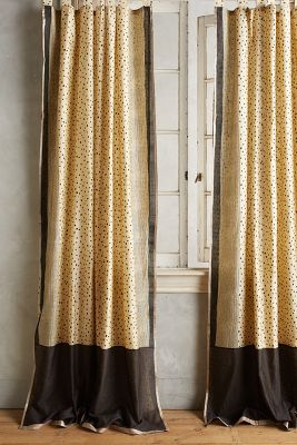 Speckled Silk Curtain by Anthropologie