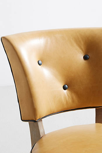 Slide View: 7: Premium Leather Promena Dining Chair