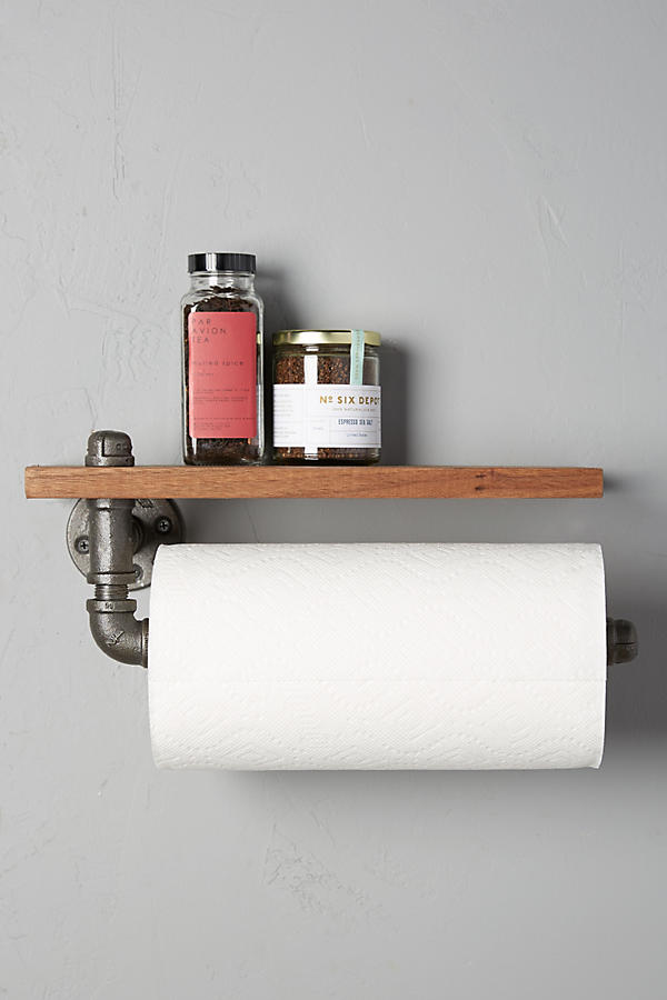 Slide View: 1: Black Walnut Paper Towel Holder