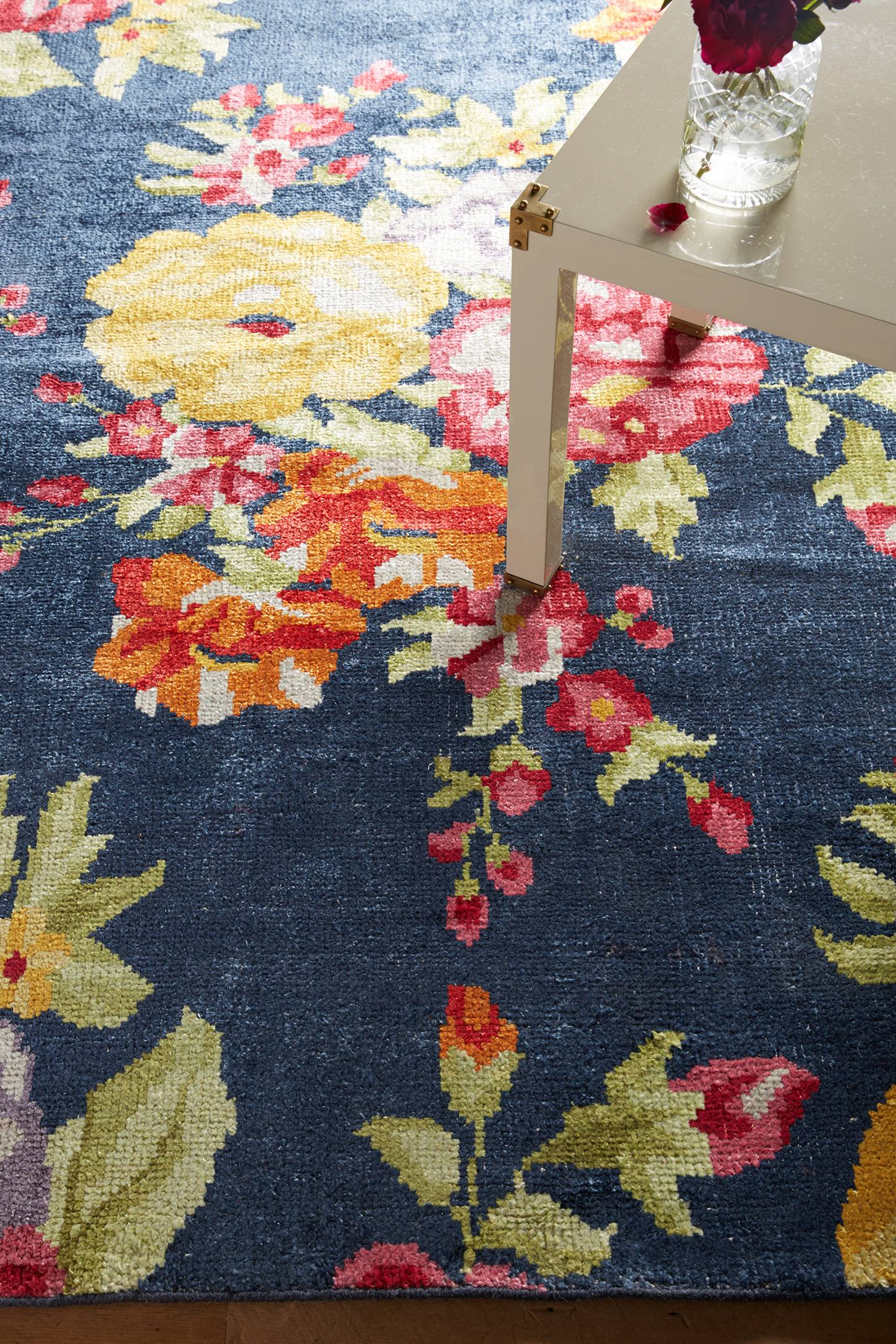 Floral Needlepoint Rug