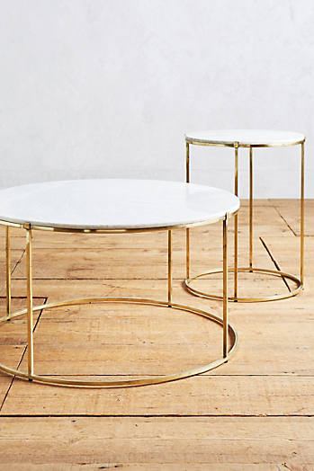 Slide View: 3: Table de salon en marbre Leavenworth