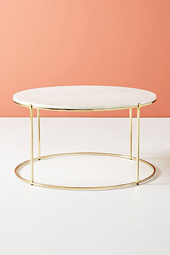 Slide View: 2: Table de salon en marbre Leavenworth