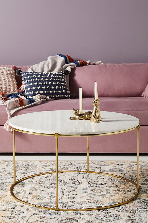Leavenworth Marble Coffee Table Anthropologie - Long marble coffee table