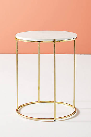 Slide View: 2: Table d'appoint en marbre Leavenworth