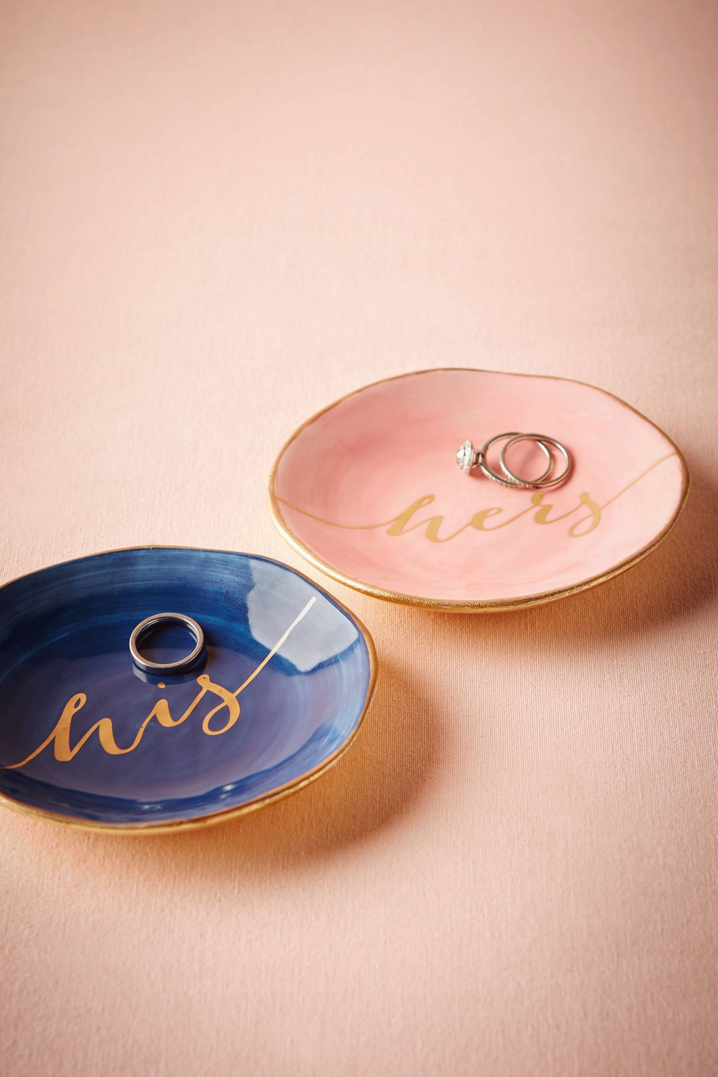 Slide View: 1: His & Hers Ring Dishes