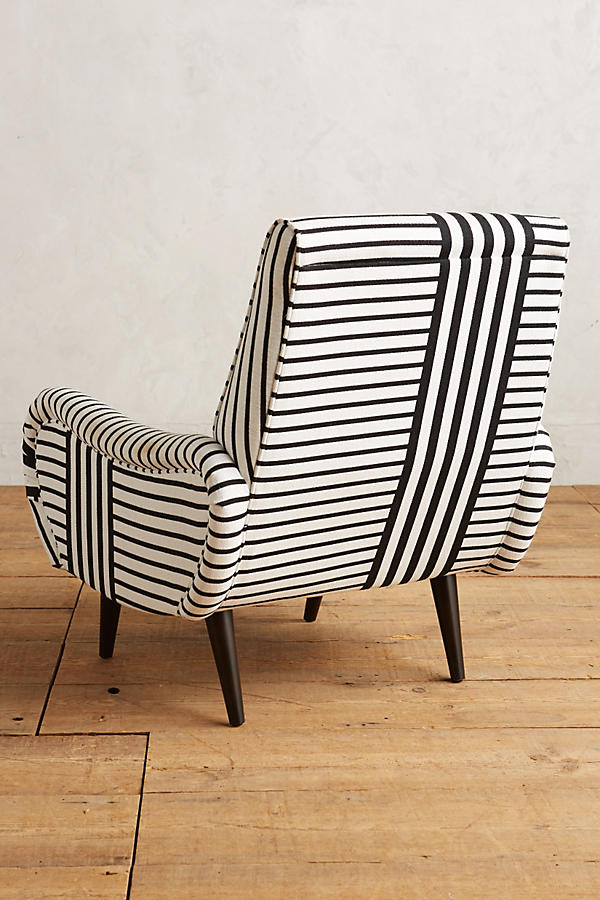 Slide View: 3: Banded Stripe Losange Chair