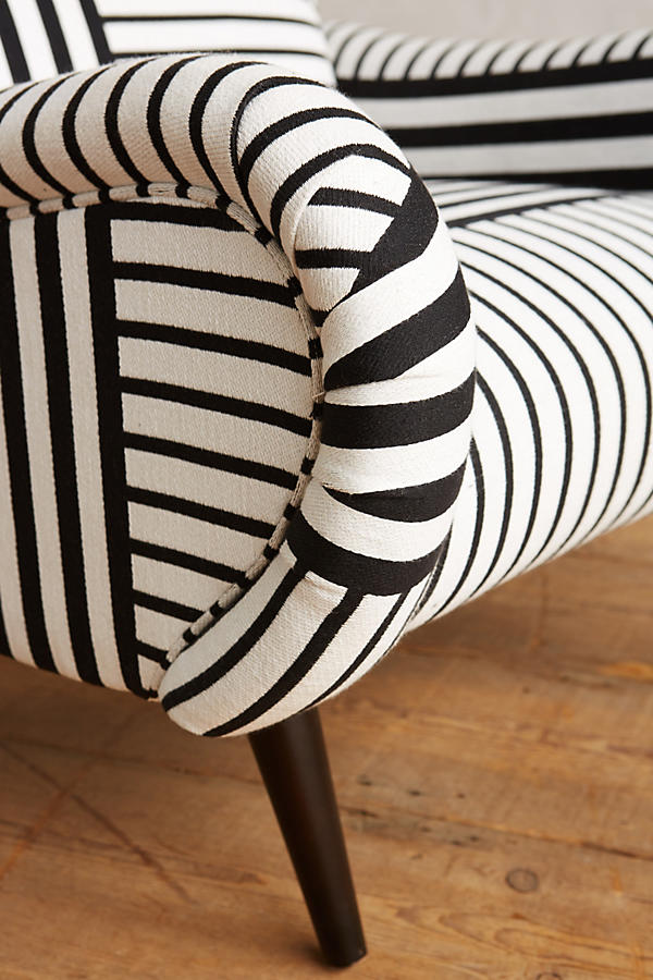 Slide View: 4: Banded Stripe Losange Chair