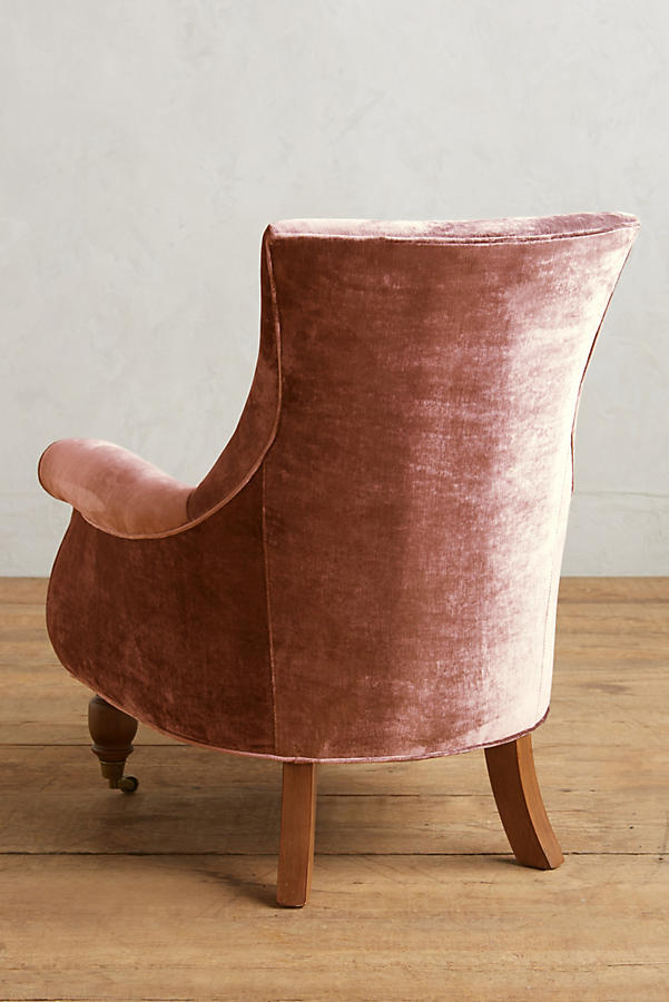 Slide View: 2: Slub Velvet Astrid Chair