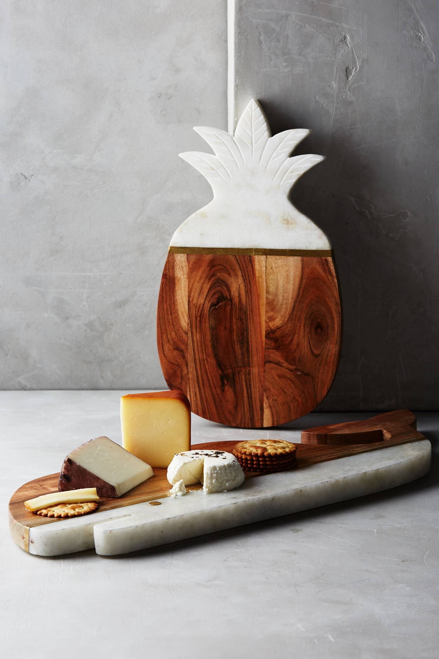 Slide View: 4: Marble & Acacia Cheese Board