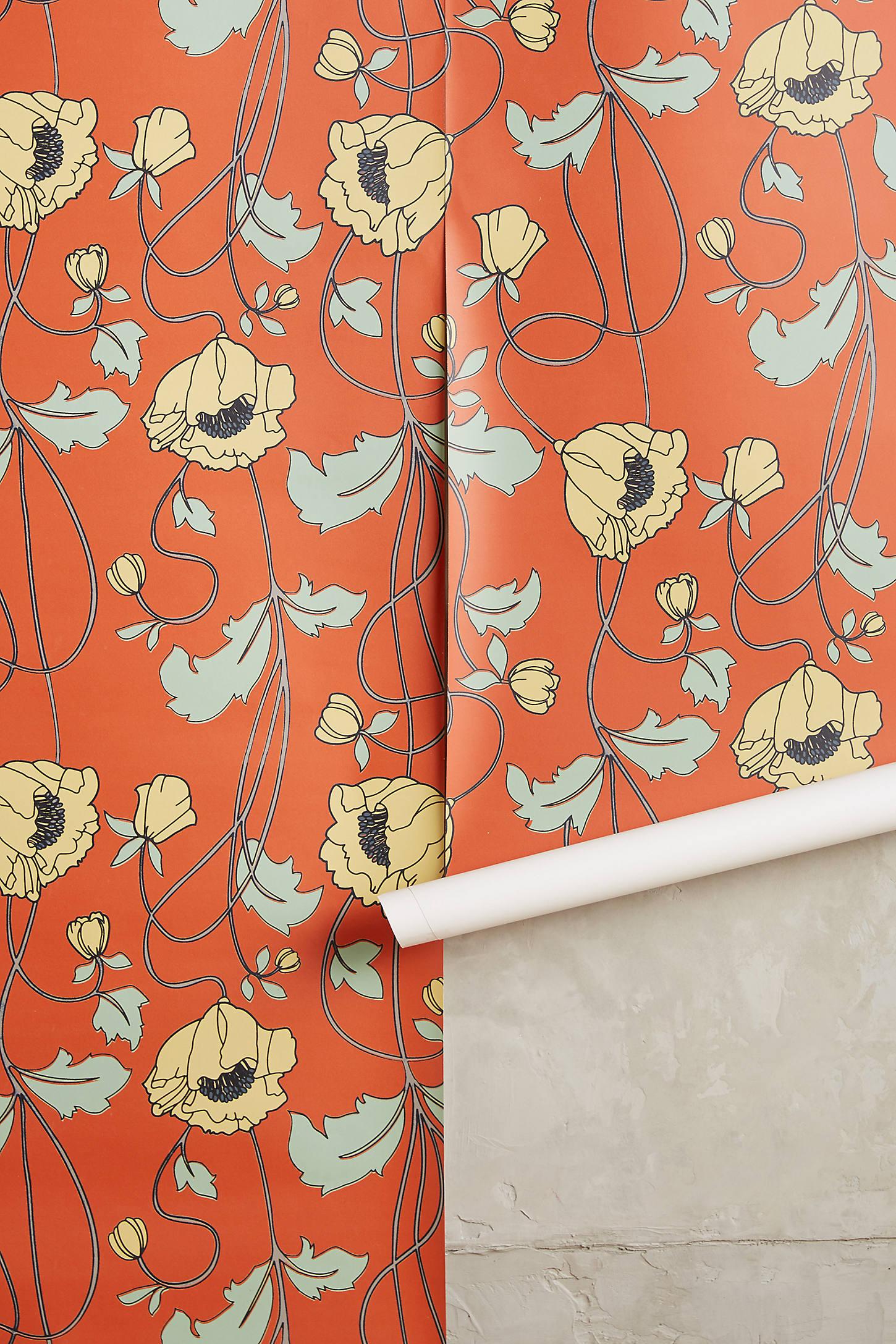 Draping Poppies Wallpaper