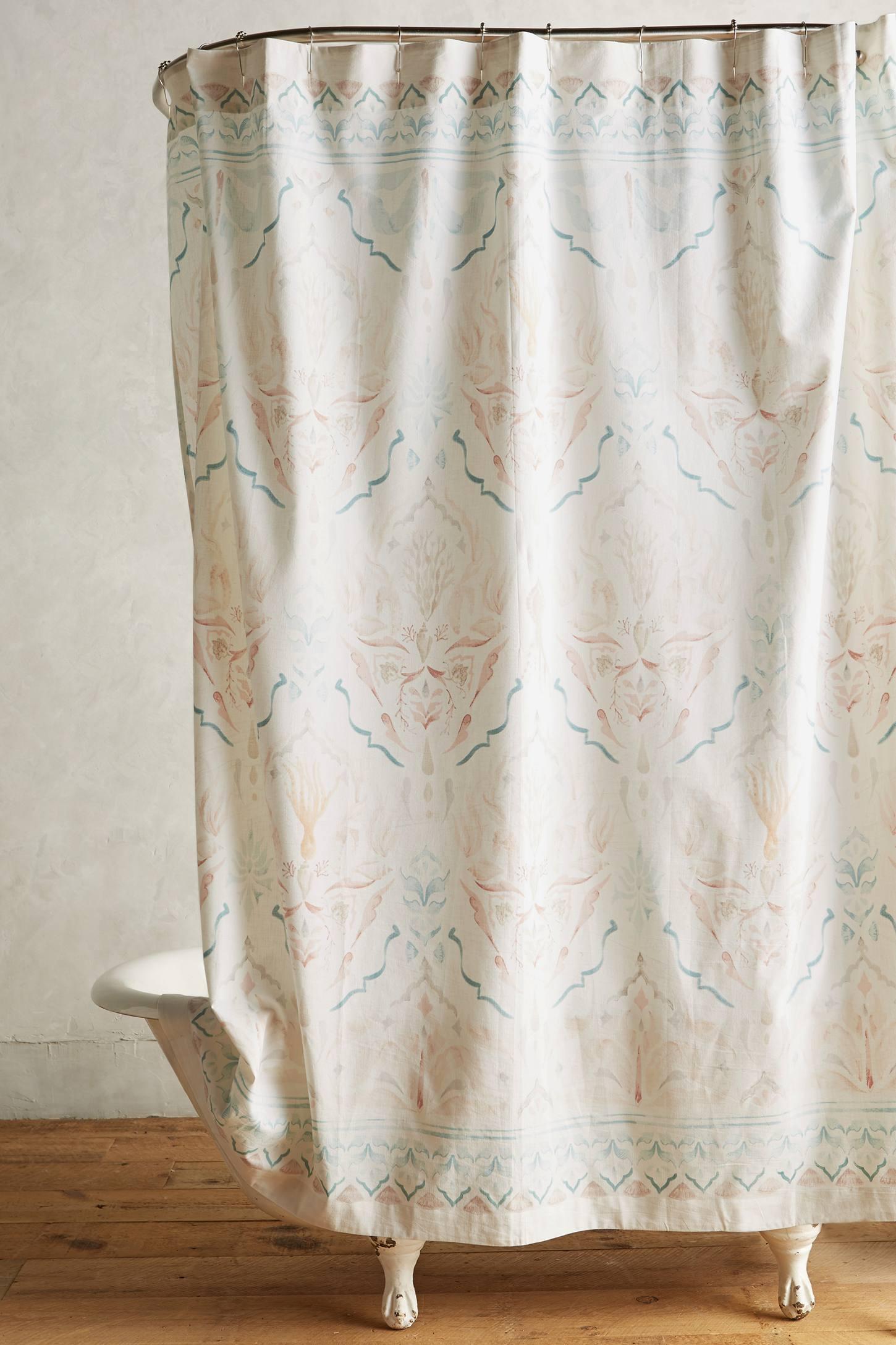 Anthropologie floral shower curtain - Emmelot Shower Curtain Anthropologie