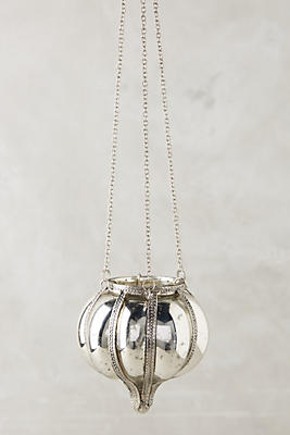 Slide View: 1: Hanging Mercury Glass Lantern