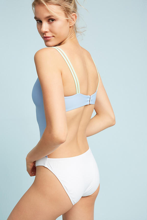 Slide View: 3: Double-Strap One-Piece Swimsuit
