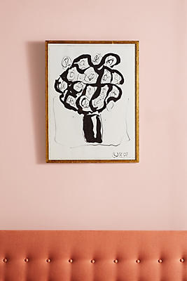 Anthropologie Wall Art ink flower wall art | anthropologie