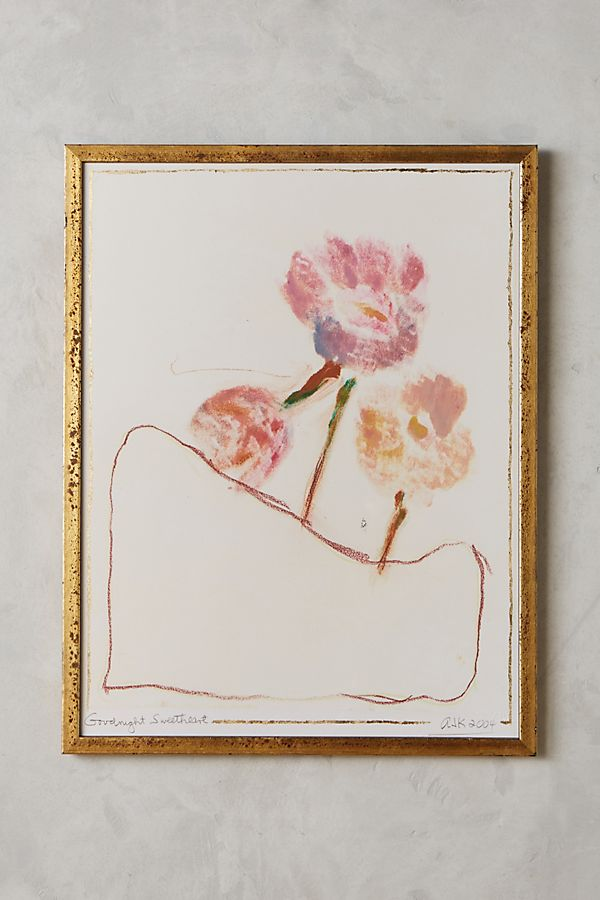 Goodnight Sweetheart Wall Art Anthropologie