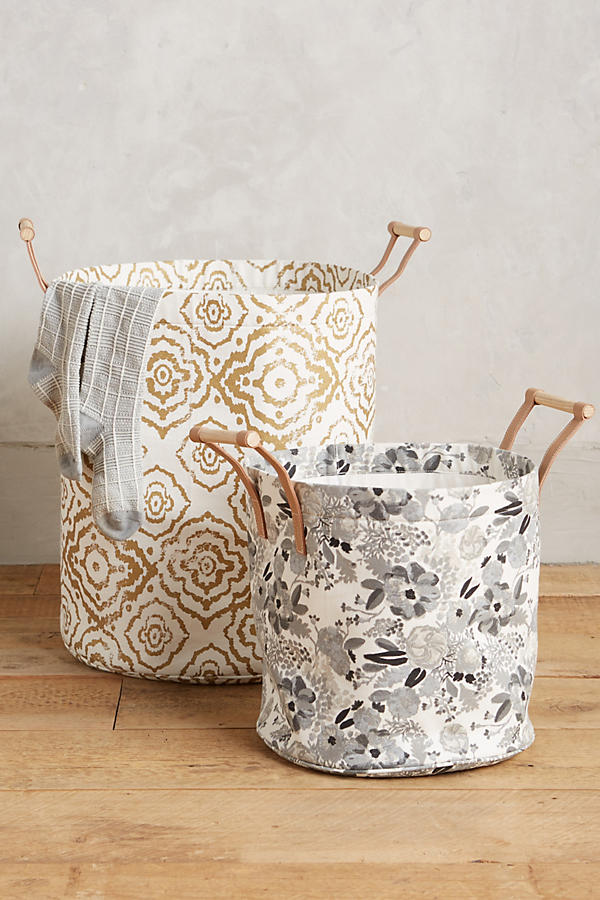 Slide View: 2: Watercolor Hamper Tote