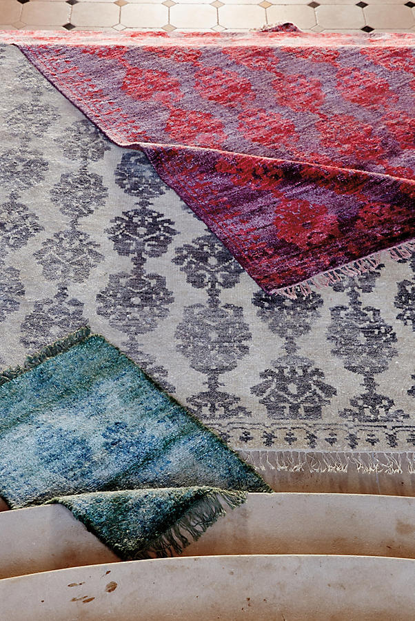 Slide View: 5: Overdyed Pericon Rug Swatch