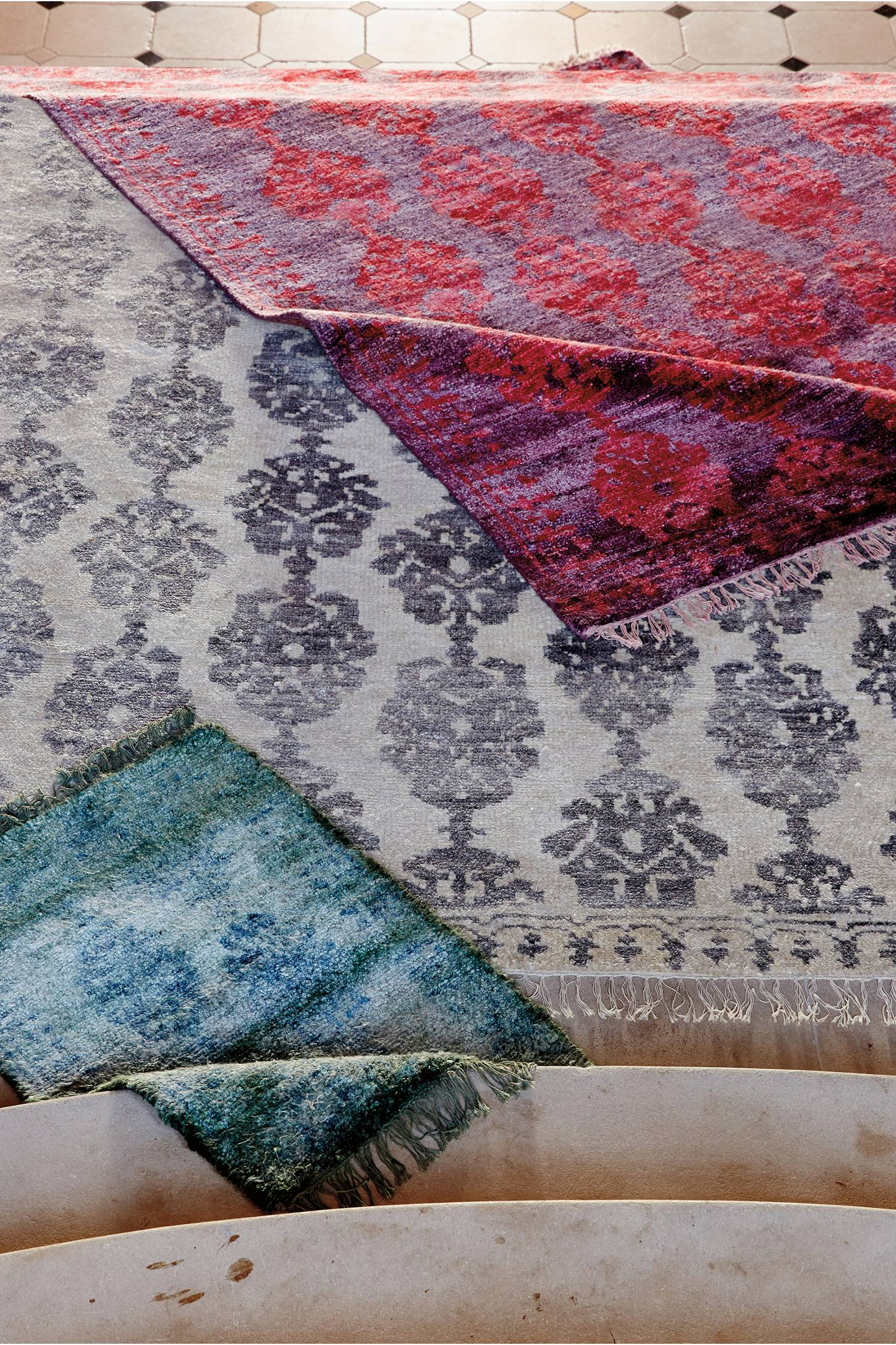 Slide View: 5: Overdyed Pericon Rug