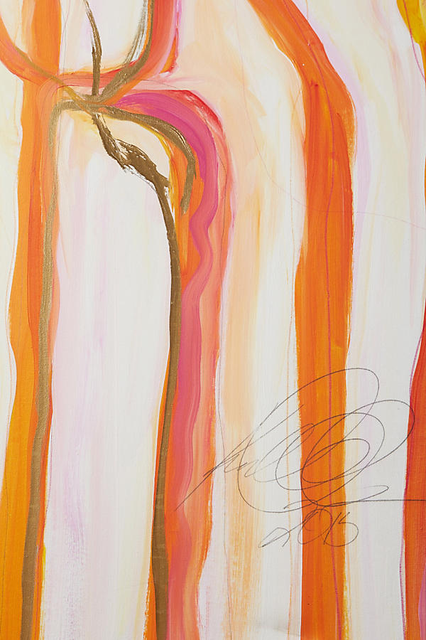 Slide View: 2: Sunset Ribbons Wall Art
