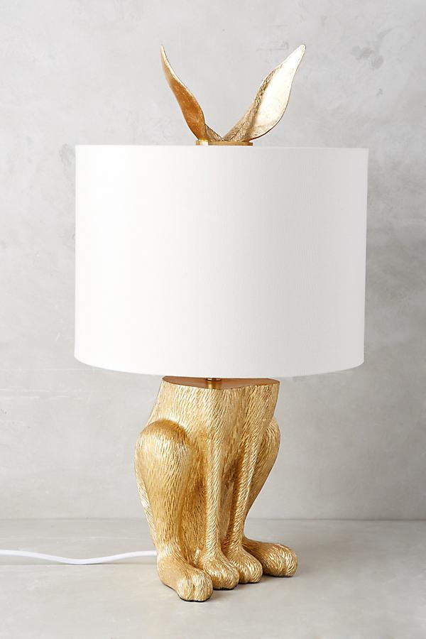 Gilded Hare Lamp Ensemble - Gold