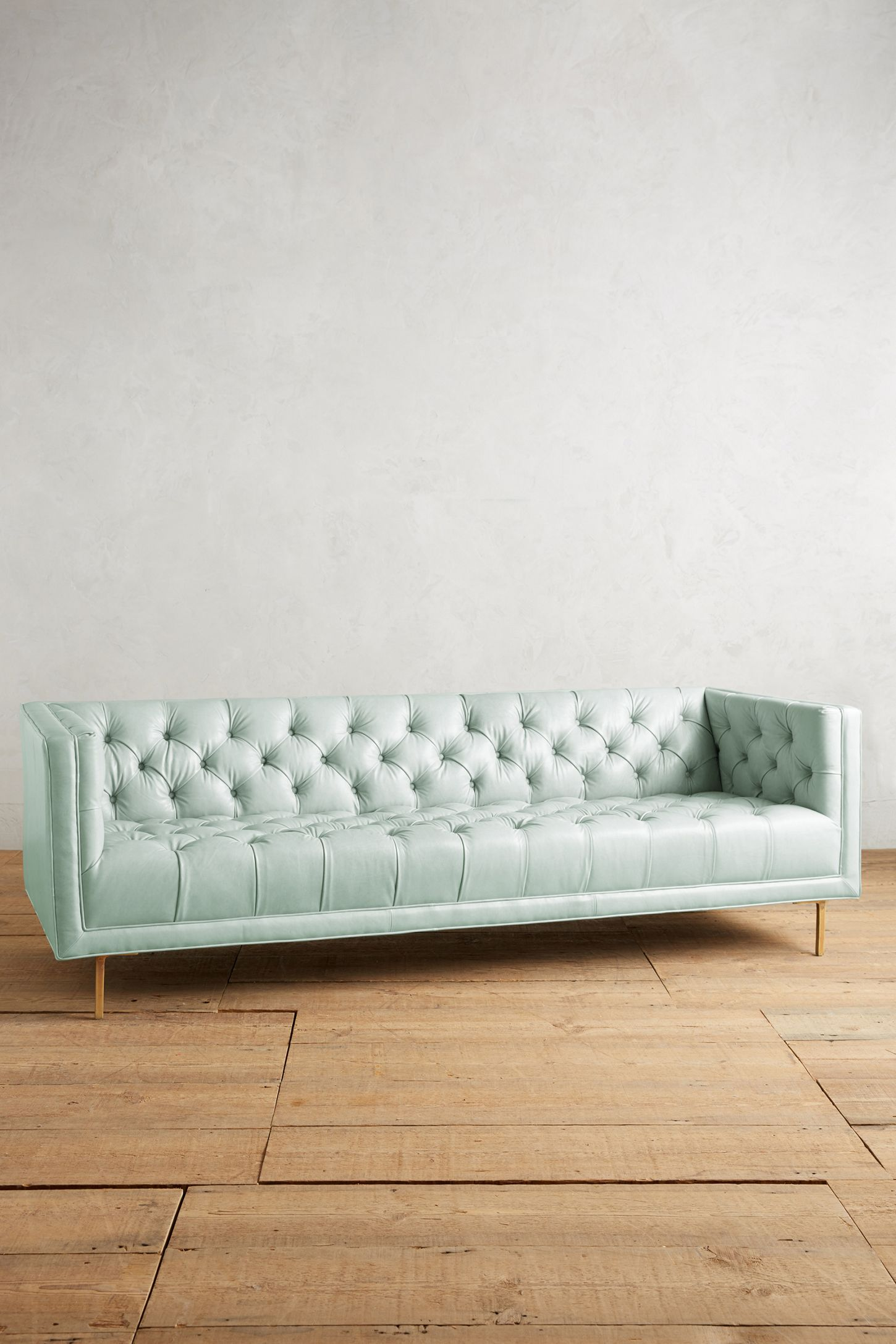 Premium Leather Mina Sofa | Anthropologie