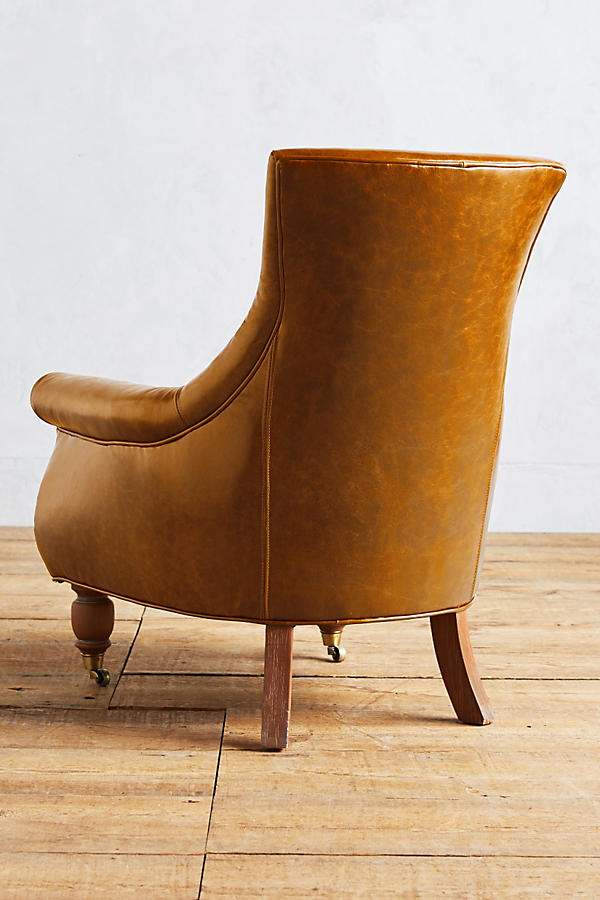 Slide View: 2: Leather Astrid Chair