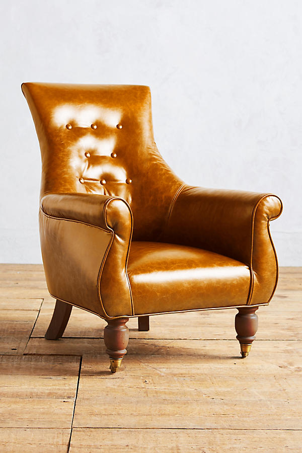 Slide View: 1: Leather Astrid Chair