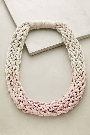 Plaited Ombre Necklace