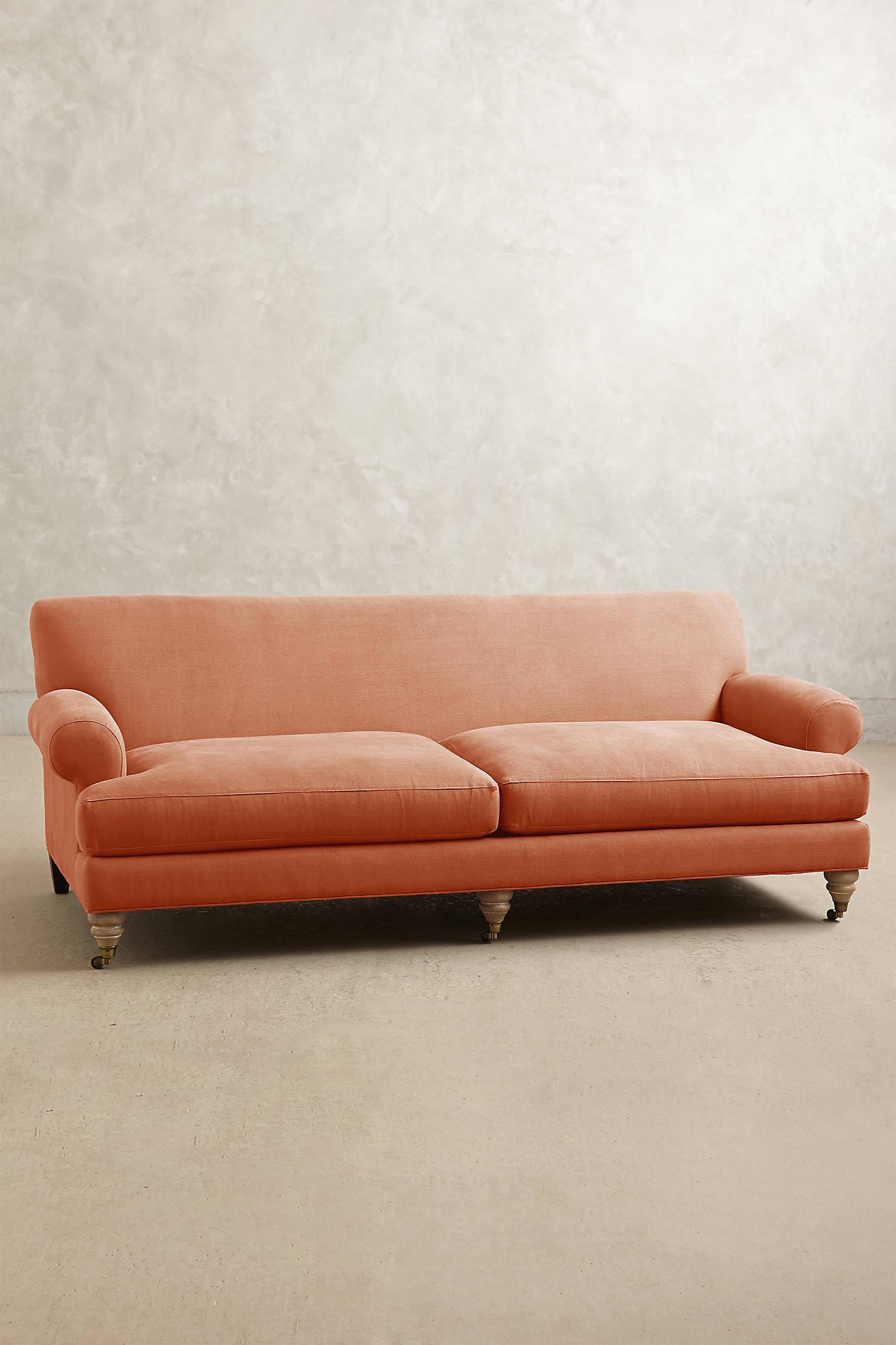 Belgian Linen Willoughby Sofa, Wilcox