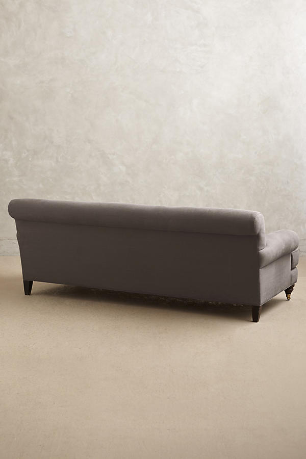 Slide View: 2: Belgian Linen Willoughby Sofa, Hickory