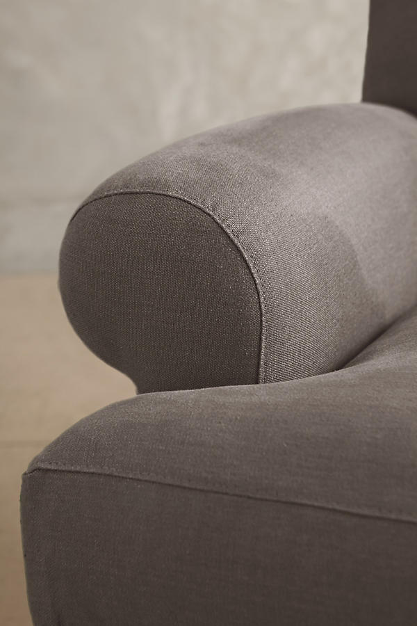 Slide View: 3: Belgian Linen Willoughby Sofa, Hickory