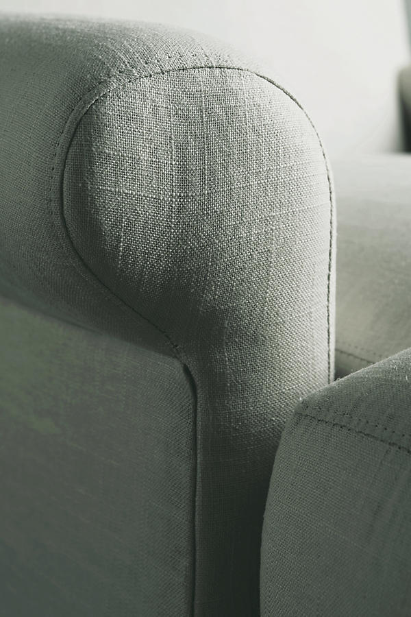 Belgian Linen Willoughby Chair, Hickory