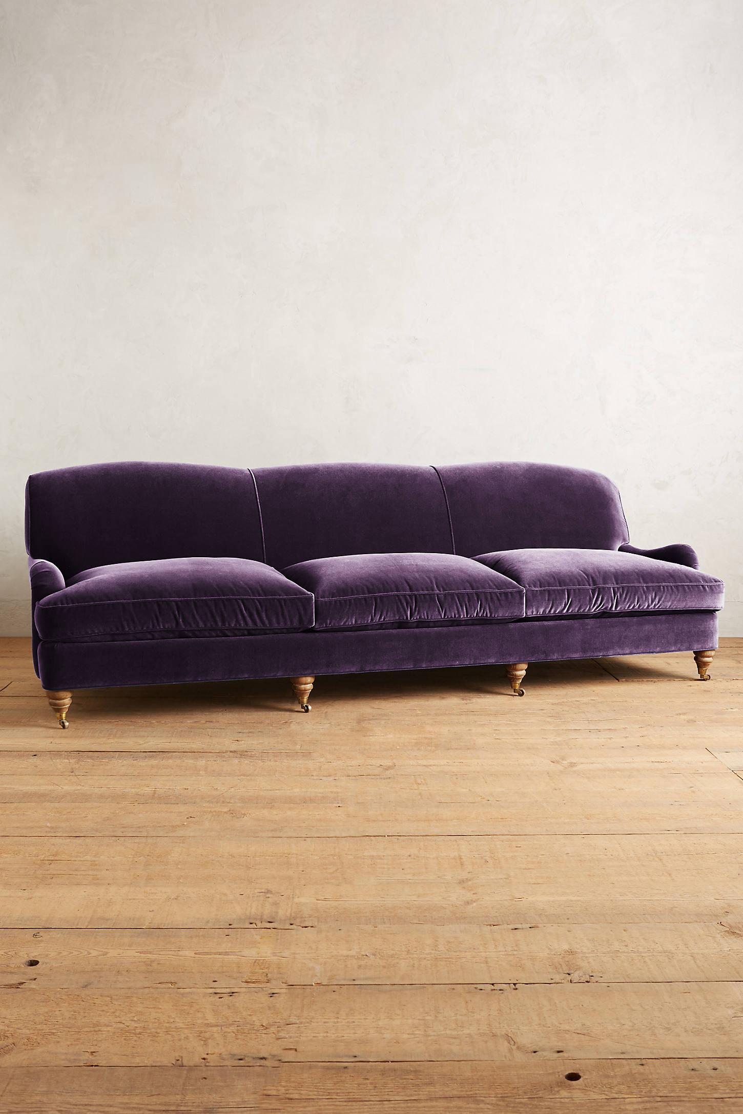 Velvet Glenlee Grand Sofa, Landon