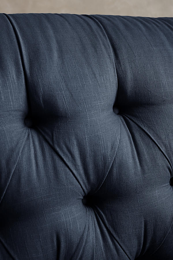 Slide View: 4: Belgian Linen Lyre Chesterfield Grand Sofa, Wilcox
