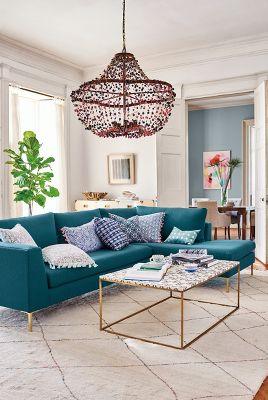 basketweave linen edlyn right sectional anthropologie. Black Bedroom Furniture Sets. Home Design Ideas