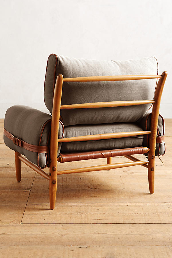 Slide View: 2: Belgian Linen Rhys Chair