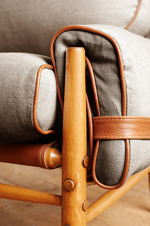 Slide View: 3: Belgian Linen Rhys Chair
