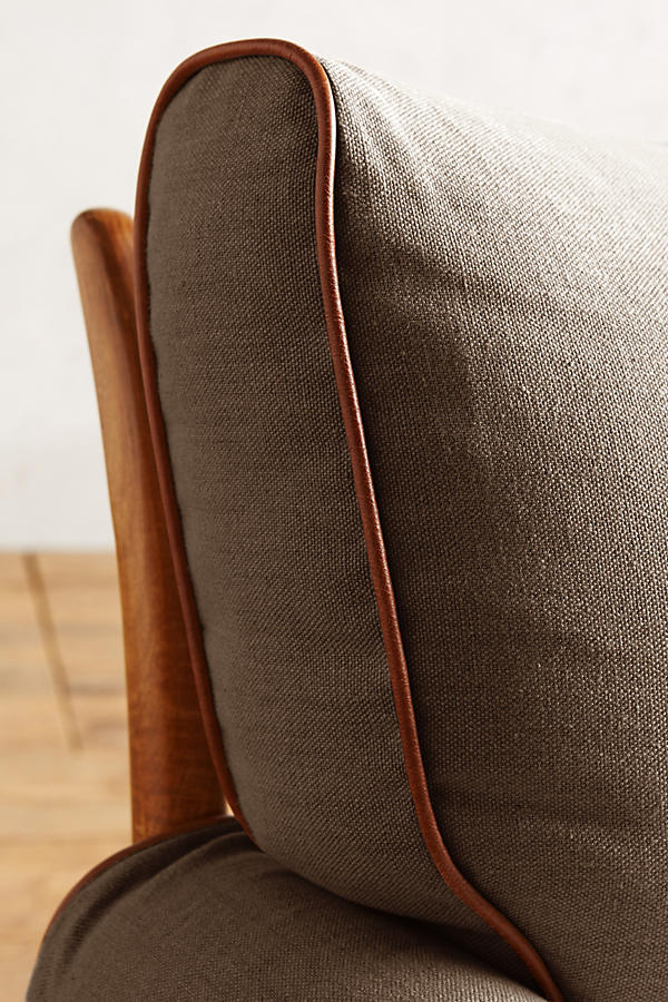 Slide View: 4: Belgian Linen Rhys Chair