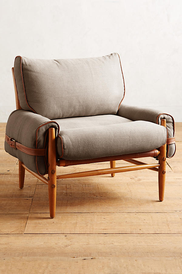 Slide View: 1: Belgian Linen Rhys Chair