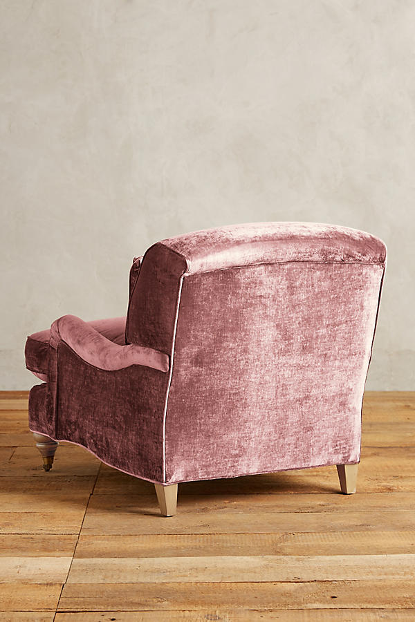 Slide View: 2: Slub Velvet Glenlee Chair, Wilcox