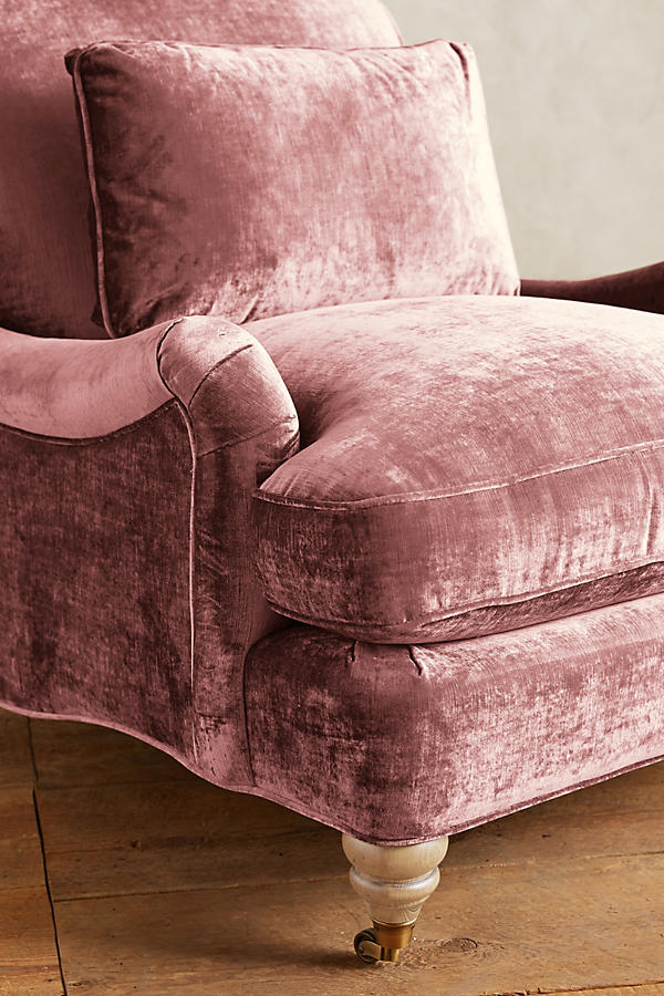 Slide View: 3: Slub Velvet Glenlee Chair, Wilcox