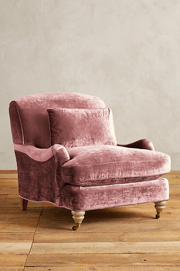 Slide View: 1: Slub Velvet Glenlee Chair, Wilcox