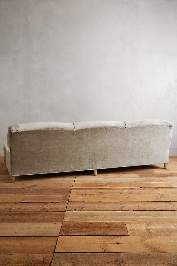 Slide View: 2: Slub Velvet Glenlee Grand Sofa, Wilcox