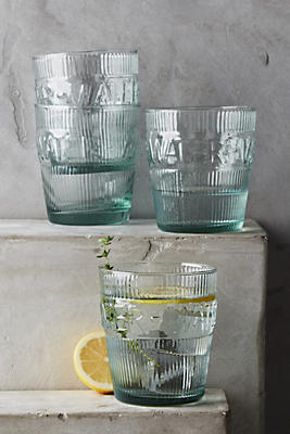 Slide View: 1: Imprint Water Glasses, Set of 4