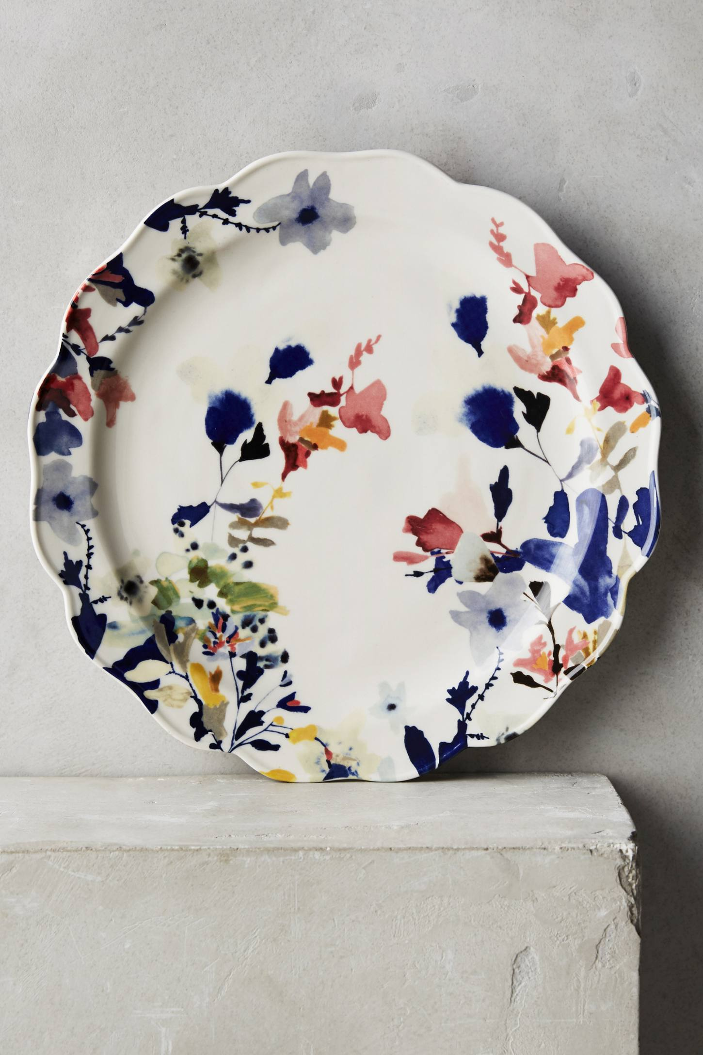 Wildflower Study Dinner Plate Anthropologie